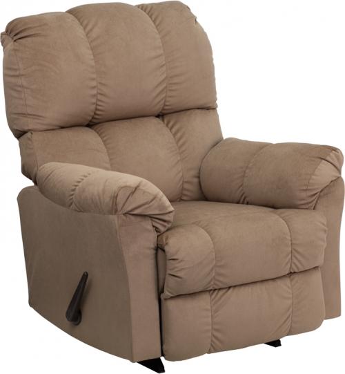 Flash Furniture Contemporary Top Hat Coffee Microfiber Rocker Recliner [AM-9320-4172-GG]