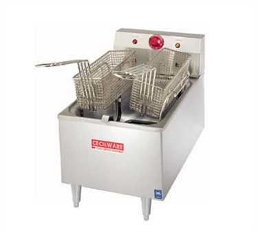 Grindmaster-Cecilware ELT-500 Commercial Countertop Twin Electric Deep Fryer with 15 lb. Tanks