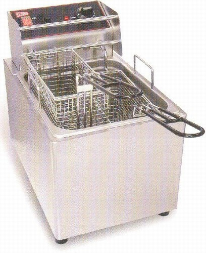Grindmaster-EL15 Commercial Countertop 2-Basket Electric Deep Fryer, 15 Lb. Tank