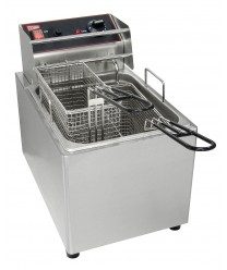 Grindmaster-EL25 Commercial Countertop 2-Basket Electric Deep Fryer, 15 Lb. Tank