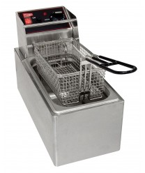 Grindmaster-Cecilware EL6 Commercial Countertop Electric Deep Fryer with 6 Lb. Tank - 120V