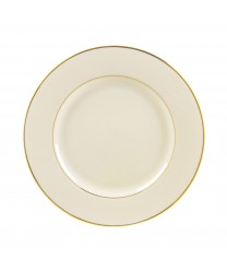 10 Strawberry Street CGLD0001 Cream Double Gold Dinner Plate  10 3/4