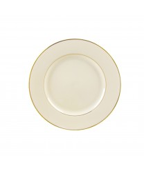 10 Strawberry Street CGLD0004 Cream Double Gold Salad / Dessert Plate 7-3/4'' - Case of 24