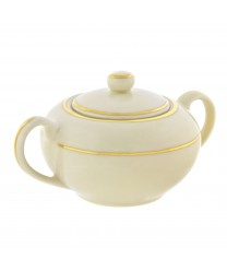 10 Strawberry Street CGLD0018 Cream Double Gold Sugar Bowl 8 oz. - Case of 6