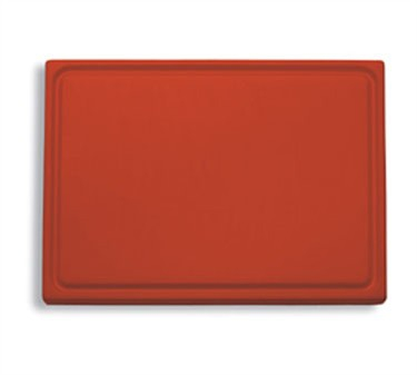 "FDick 9153000-03 Red Cutting Board with Groove 20-3/4"" x 12-3/4"" x 3/4"""
