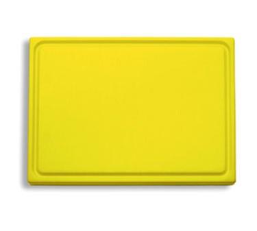 "FDick 9153000-02 Yellow Cutting Board with Groove 20-3/4"" x 12-3/4"" x 3/4"""
