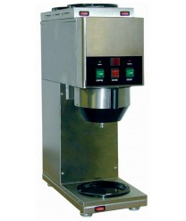Grindmaster-Cecilware Java 2 QB-D3 Decanter Soluble Coffee Dispenser with Two Hoppers and Three Warmers