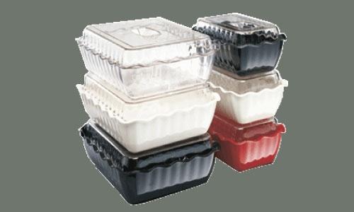 """Winco CRK-10W Deli Crock Food Storage Container, White 10"""" x 7"""" x 3"""""""