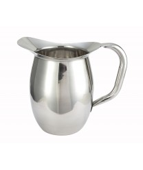 Winco WPB-2 Deluxe Stainless Steel Bell Water Pitcher 2 Qt.