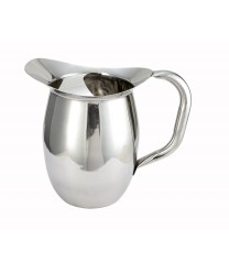 Winco WPB-2C Deluxe Bell Water Pitcher with Ice Catcher 2 Qt.
