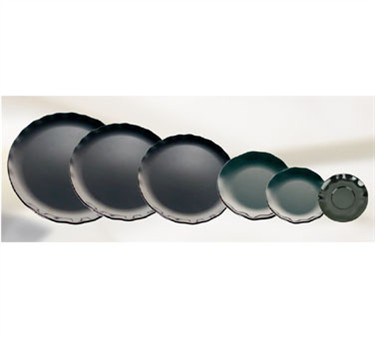 """Thunder Group RF1010BW Black Pearl Two-Tone Dinner Plate 10-1/2"""" (6 Pieces)"""