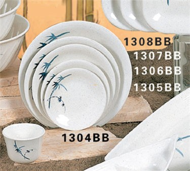 "Thunder Group 1308BB Blue Bamboo Dinner Plate 8-5/8"" (1 Dozen)"