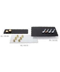 "GET Enterprises ML-189-BK Modern Edge Black Rectangular Display Tray, 23-3/4""x 15"