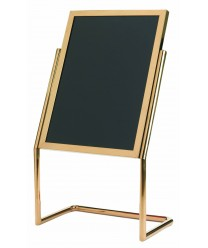 """Aarco P-17B  Dual Capability Neon Markerboard / Poster Holder- Brass Finish 48"""" x 25"""""""