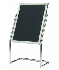 Aarco P-17C Dual Capability Neon Markerboard and Menu / Poster Holder- Chrome Finish 48'' x 25''
