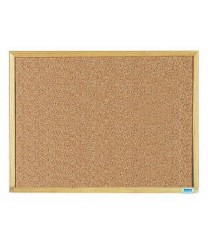 Aarco  EB1824 Economy Series Natural Cork Board with Wood Frame  18'' X 24''