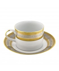 10 Strawberry Street ELE-9 Elegance Can Cup and Saucer 8 oz. - Case of 24