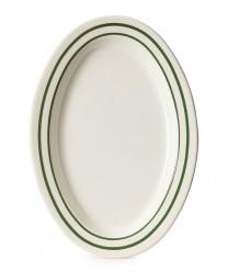 """GET Enterprises OP-215-EM Emerald Oval Platter, 11-1/2""""x 8""""(2 Dozen)"""