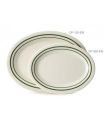 """GET Enterprises OP-950-EM Emerald Oval Platter, 9-3/4""""x 7-1/4""""(2 Dozen)"""