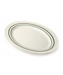 "GET Enterprises M-4010-EM Emerald Melamine Oval Platter, 16""x 12""(1 Dozen)"