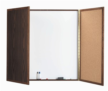 "Aarco WP-36 Walnut Enclosed Melamine Planning Board 36"" x 36"""