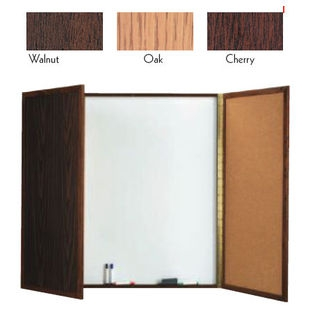 "Aarco WP-40 Walnut Enclosed Melamine Planning Board 40"" x 40"""