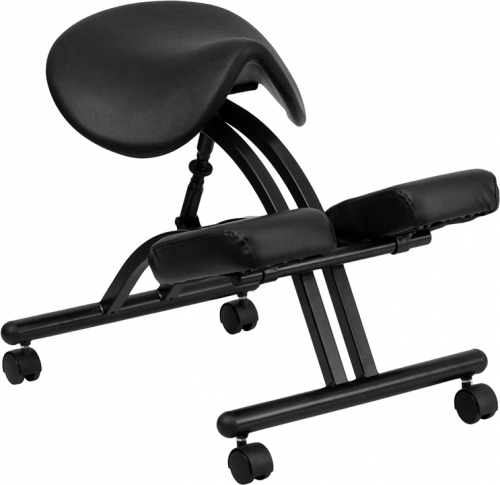 Flash Furniture Ergonomic Kneeling Chair with Black Saddle Seat [WL-1421-GG]