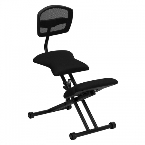 Flash Furniture Ergonomic Kneeling Chair with Black Mesh Back and Fabric Seat [WL-3440-GG]