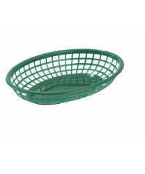 Winco PFB-10G Oval Fast Food Basket, Green (1 Dozen)