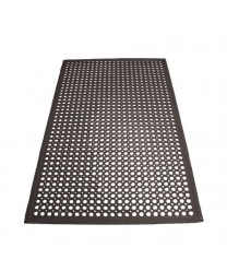 Winco RBM-35K Black Anti-Fatigue Floor Mat 3' X 5'