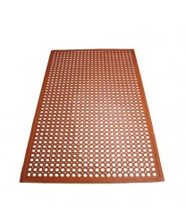 Winco RBM-35R Red Grease Resistant Floor Mat 3' X 5'