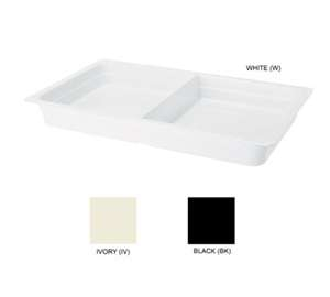"GET Enterprises ML-26-W White Full Size 2-Compartment Insert Pan, 2.5""Deep"