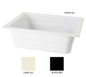 "GET Enterprises ML-21-BK Black Melamine Half Size Insert Pan, 4""Deep (3 Pieces)"