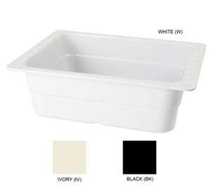 "GET Enterprises ML-21-W White Melamine Half Size Insert Pan, 4""Deep (3 Pieces)"