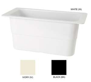 "GET Enterprises ML-23-IV Ivory Melamine Third Size Food Pan, 6""Deep (3 Pieces)"