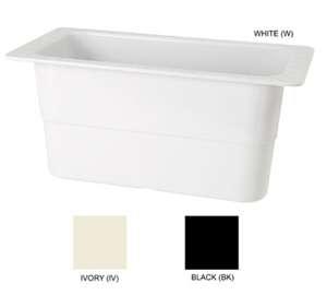 "GET Enterprises ML-23-W White Melamine Third Size Food Pan, 6""Deep (3 Pieces)"
