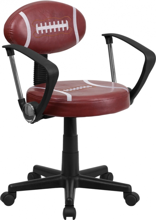 Flash Furniture Football Task Chair with Arms [BT-6181-FOOT-A-GG]
