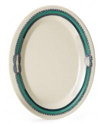 "GET Enterprises OP-950-FP Freeport Oval Platter, 9-3/4""x 7-1/4""(2 Dozen)"