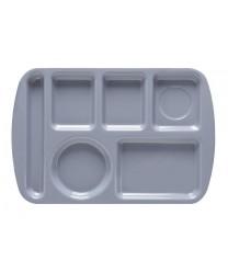 "GET Enterprises TL-151-FB French Blue Melamine Left Hand 6 Compartment Tray, 9 -1/2""x 14-3/4""(1 Dozen)"