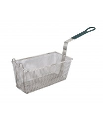 Winco FB-30 Heavy Duty Fry Basket with Green Handle