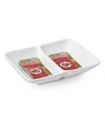 """GET Enterprises 037-L Longevity 2-Compartment Sauce Dish, 1 oz., 4""""x 3""""(2 Dozen)"""