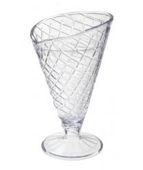 GET Enterprises ICM-26-CL Clear Plastic Waffle Cone Cup, 8 oz. (2 Dozen)