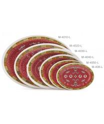 "GET Enterprises M-4050-L Longevity Melamine Oval Platter, 9""(1 Dozen)"