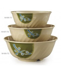 GET Enterprises M-608-TD Traditional Japanese Melamine Fluted  Bowl, 48 oz. (1 Dozen)