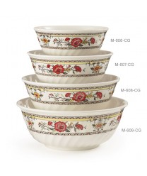 GET Enterprises M-609-CG Garden Dynasty Melamine Fluted Bowl, 74 oz. (1 Dozen)