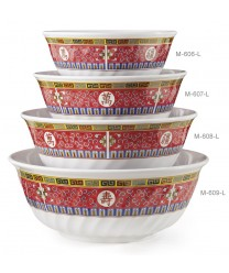 GET Enterprises M-609-L Longevity Melamine Fluted Bowl, 74 oz. (1 Dozen)