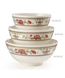 GET Enterprises M-706-CG Garden Dynasty Melamine Bowl, 24 oz. (1 Dozen)