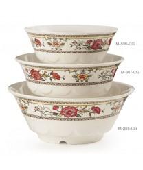GET Enterprises M-806-CG Garden Dynasty Melamine Wave Bowl, 24 oz. (1 Dozen)