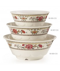 GET Enterprises M-808-CG Garden Dynasty Melamine Wave Bowl, 52 oz. (1 Dozen)