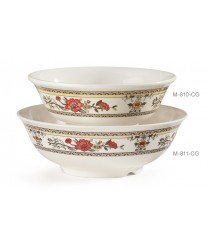 GET Enterprises M-810-CG Garden Dynasty Melamine Bowl, 24 oz. (1 Dozen)